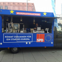 Europa-Info-Truck der SPD