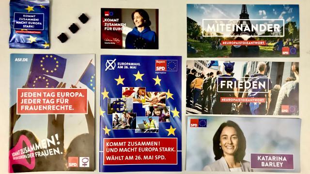 Hier gibt es Materialien der BayernSPD zur Europawahl